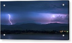 Acrylic Print featuring the photograph Colorado Rocky Mountain Foothills Storm Panorama by James BO Insogna