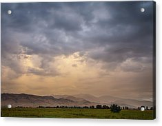 Acrylic Print featuring the photograph Colorado Rocky Mountain Foothills Storms by James BO Insogna