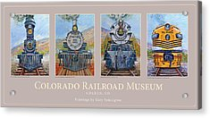 Colorado Rr Museum Quadtych Acrylic Print by Gary Symington