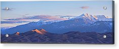 Colorado Sand Dunes First Light Sunrise Panorama Acrylic Print by James BO Insogna