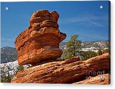 Acrylic Print featuring the photograph Colorado Springs Balanced Rock by Adam Jewell