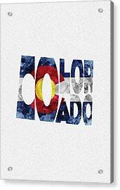 Colorado Typographic Map Flag Acrylic Print