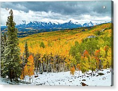 Colorado Valley Of Autumn Color Acrylic Print