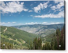 Colorado Vista From Trail To Beaver Lake Acrylic Print
