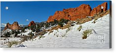 Acrylic Print featuring the photograph Colorado Winter Red Rock Garden by Adam Jewell