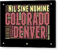 Colorado Word Cloud Map 1 Acrylic Print