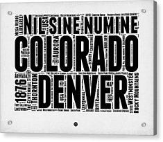 Colorado Word Cloud Map 2 Acrylic Print