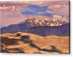 Colorado's Great Sand Dunes Shadow Of The Clouds Acrylic Print by James BO  Insogna