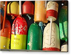 Colored Buoys Acrylic Print