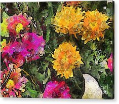 Colored Flowers Acrylic Print