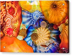 Colored Glass Acrylic Print