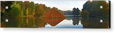 Colored Lake Pyramid Acrylic Print