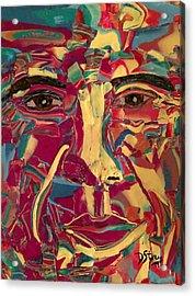 Colored Man Acrylic Print