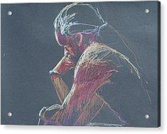 Colored Pencil Sketch Acrylic Print