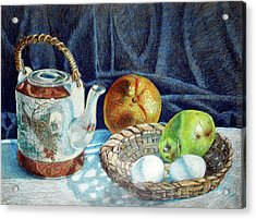 Colored Pencil Still Life No2 Acrylic Print by Stephen Boyle
