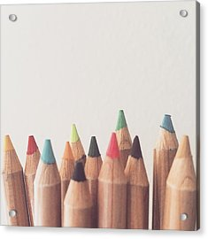 Colored Pencils Acrylic Print
