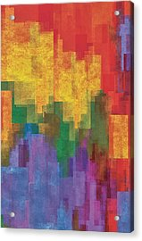 Coloredshapes Acrylic Print by Jack Zulli