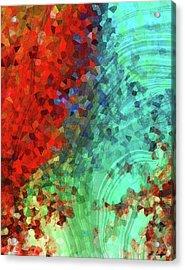Colorful Abstract Art - Rejoice - Sharon Cummings Acrylic Print by Sharon Cummings