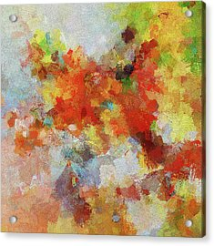 Acrylic Print featuring the painting Colorful Abstract Landscape Painting by Ayse Deniz