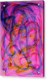 Colorful Abstract Acrylic Print by Natalie Holland