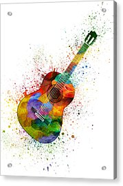 Colorful Acoustic Guitar 02 Acrylic Print by Aged Pixel