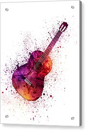 Colorful Acoustic Guitar 04 Acrylic Print by Aged Pixel