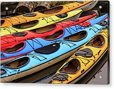 Colorful Alaska Kayaks Acrylic Print