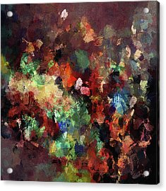 Colorful And Modern Abstract Painting Acrylic Print by Ayse Deniz