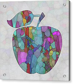 Colorful Apple Acrylic Print by Jack Zulli