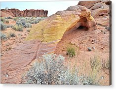 Acrylic Print featuring the photograph Colorful Arch In North Valley Of Fire by Ray Mathis