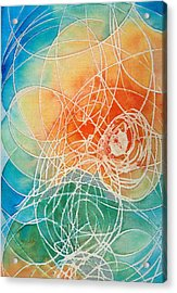Colorful Art - Color Wash - By Sharon Cummings Acrylic Print