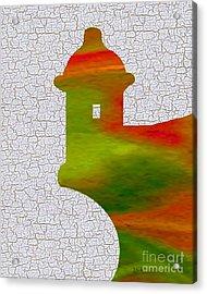 Colorful Art El Morro Acrylic Print by Saribelle Rodriguez