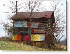 Colorful Barn Acrylic Print by Kathryn Meyer