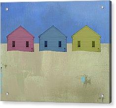 Colorful Beach Cottage Acrylic Print
