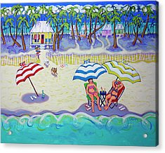 Colorful Beach Hideaway Acrylic Print