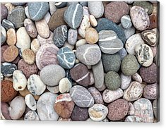 Acrylic Print featuring the photograph Colorful Beach Pebbles by Elena Elisseeva