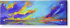 Colorful Beach Sunset Oil Painting  Acrylic Print by Patricia Awapara