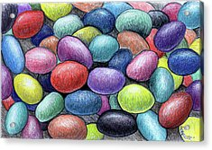 Colorful Beans Acrylic Print by Nancy Mueller