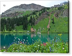 Acrylic Print featuring the photograph Colorful Blue Lakes Landscape by Cascade Colors