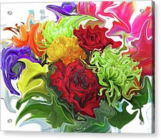 Colorful Bouquet Acrylic Print by Kathy Moll