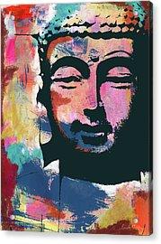 Colorful Buddha 2- Art By Linda Woods Acrylic Print