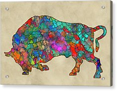 Colorful Buffalo Acrylic Print by Jack Zulli