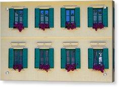 Colorful Building Acrylic Print by David Buffington