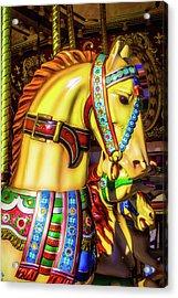 Colorful Carrousel Horse Ride Acrylic Print