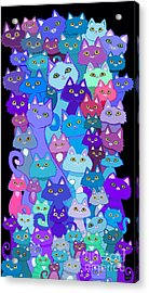 Colorful Cat Collection Acrylic Print
