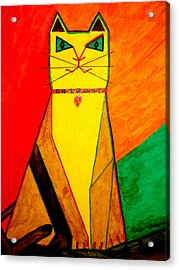 Colorful Cat Acrylic Print