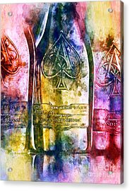Colorful Champagne Acrylic Print by Jon Neidert