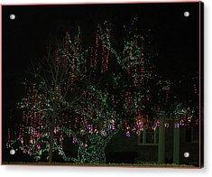 Acrylic Print featuring the digital art Colorful Christmas Lights by Ellen Barron O'Reilly