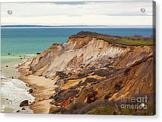 Acrylic Print featuring the photograph Colorful Clay Cliffs On The Vineyard by Michelle Wiarda