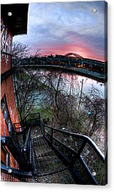 Colorful Cleveland Acrylic Print by Joshua Ball
